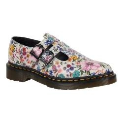 Women's Dr. Martens 8065 Double Strap Mary Jane DML Bone/Mallow Pink Wanderlust Backhand Leather - Thumbnail 0