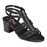 Women's A2 by Aerosoles Mid Range Gladiator Sandal Black Combo Braided Faux Leather