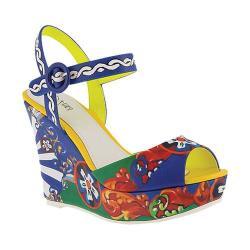 Women's Azura Stella Wedge Sandal Blue Multi Synthetic