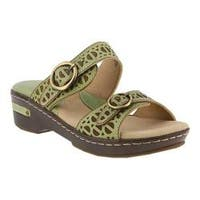 Women's L'Artiste by Spring Step Duobank Slide Mint Green Leather