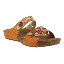 Women's L'Artiste by Spring Step Freesia Slide Camel Leather