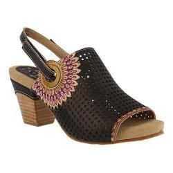 Women's L'Artiste by Spring Step Millie Heeled Slingback Black Leather
