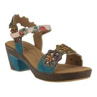 Women's L'Artiste by Spring Step Pinkie Slingback Turquoise Leather