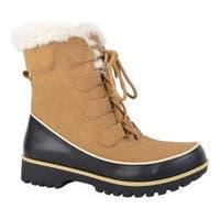 Women's Portland Boot Company Igloo Snow Boot Tan Suede PU