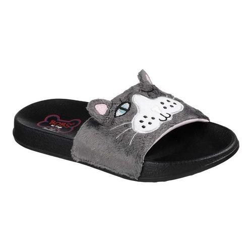 f1c972fd07b Shop Women's Skechers BOBS 2nd Take Faux Fun Slide Sandal Charcoal - Free  Shipping On Orders Over $45 - Overstock - 19552413