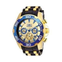 Invicta Men's 22343 'Pro Diver' Scuba Black and Gold-Tone Polyurethane and Stainless Steel Watch