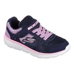 Girls' Skechers GOrun 400 Sparkle Sprinters Trainer Navy/Pink
