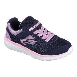 Girls' Skechers GOrun 400 Sparkle Sprinters Trainer Navy/Pink