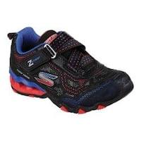 Boys' Skechers Hydro Static Geo Pulse Z Strap Sneaker Black/Red/Blue