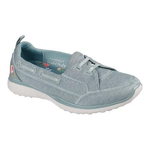 3f75351a994f Shop Women s Skechers Microburst Beauty Blossom Slip-On Sneaker Sage - Free  Shipping Today - Overstock - 19552556