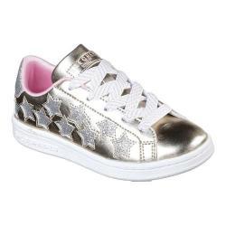 Girls' Skechers Omne Lil Star Side Sneaker Gold/Silver