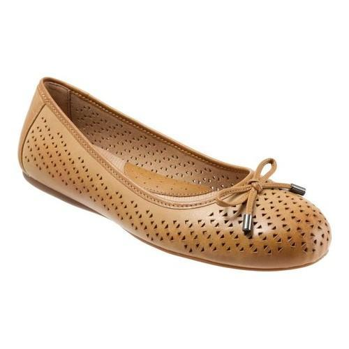 2bb444bc3c61 Shop Women s SoftWalk Napa Flat Tan Laser Leather - Free Shipping Today -  Overstock.com - 19582102
