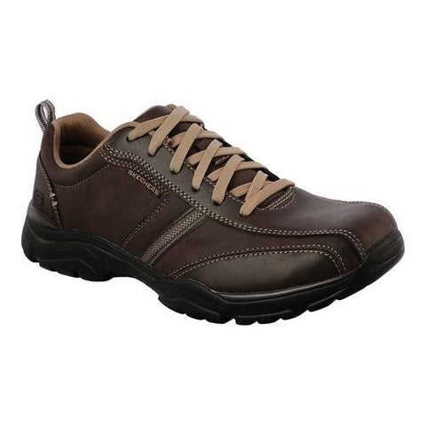 Men's Skechers Relaxed Fit Rovato Larion Bicycle Toe Shoe Brown
