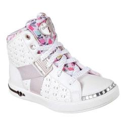 Girls' Skechers Shoutouts Bling Beauties High Top White/Pink