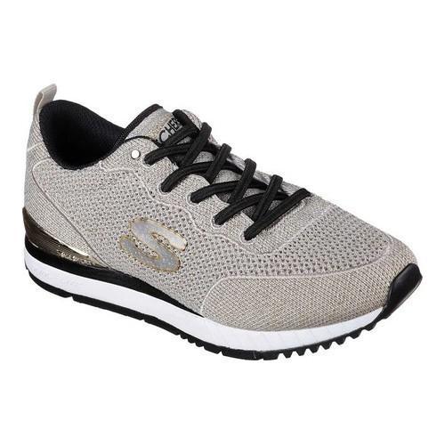 Women's Skechers Sunlite Magic Dust Sneaker Taupe/Gold