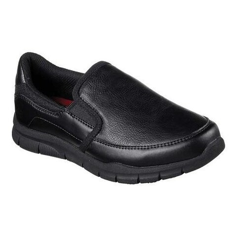 Women's Skechers Work Relaxed Fit Nampa Annod Slip Resistant Shoe Black