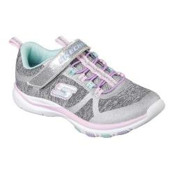 Girls' Skechers Trainer Lite Jazzy Jumpers Sneaker Gray/Multi