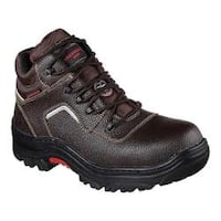 Men's Skechers Work Relaxed Fit Burgin Sosder Comp Toe Boot Brown
