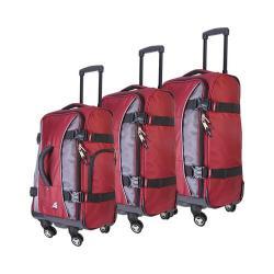 Athalon Hybrid Spinner 3-Piece Luggage Set Berry/Gray