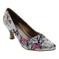 Women's Bellini Charm Pump White Floral