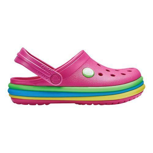 311846330daaff ... Thumbnail Children  x27 s Crocs Crocband Rainbow Band Clog Kids  Paradise ...