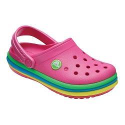 9b0985dcf97cc7 Shop Children s Crocs Crocband Rainbow Band Clog Kids Paradise Pink ...