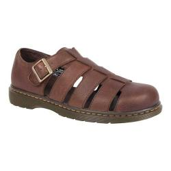 Men's Dr. Martens Fenton Fisherman Sandal Dark Brown Grizzly Leather