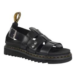 Dr. Martens Terry Fisherman Sandal Black Brando Full Grain Waxy Leather