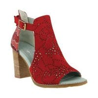 Women's L'Artiste by Spring Step Lashon Heeled Sandal Red Leather