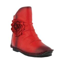 Women's L'Artiste by Spring Step Silvestra Ankle Boot Red Leather