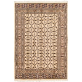 Hand Knotted Bokhara Semi Antique Wool Area Rug - 7' 4 x 10' 5