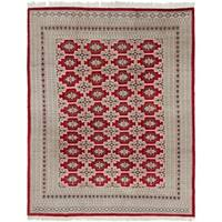 Hand Knotted Bokhara Silk & Wool Area Rug - 8' 4 x 10' 10