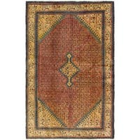 Hand Knotted Botemir Semi Antique Wool Area Rug - 4' x 6' 9