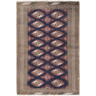 Hand Knotted Bokhara Semi Antique Wool Area Rug - 4' 2 x 6' 2