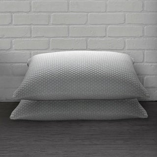 Link to Ella Jayne Home Collection Cool N' Comfort Gel Fiber Pillow with CoolMax Technology - Set of Two - Blue/White Similar Items in Pillows