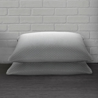 Ella Jayne Home Collection Cool N' Comfort Gel Fiber Pillow with CoolMax Technology - Set of Two - Blue/White
