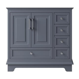 "Exclusive Heritage 36"" Single Sink Bathroom Vanity Base in Cashmere Grey"