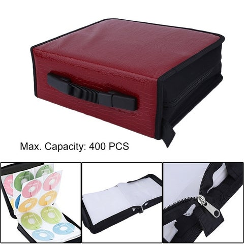 Capacity 400 Disc CD DVD Storage Bag Disc Organizer Holder Media Carry Case