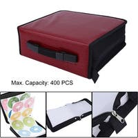 Capacity 400 Disc CD DVD Storage Bag Disc Organizer Holder Media Carry Case