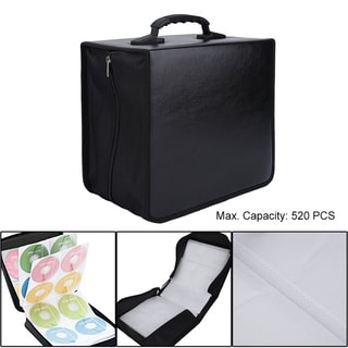 520 Disc CD DVD Storage Bag Organizer High-Grade Leather Holder Carry Case