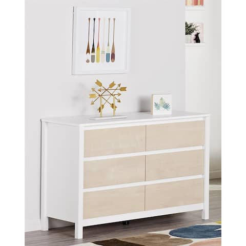 Novogratz Addision Natural 6 Drawer Dresser
