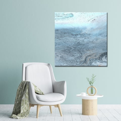 Spa Marble Surf Blue Abstract Beach Gallery Wrapped Canvas Art by Norman Wyatt Home