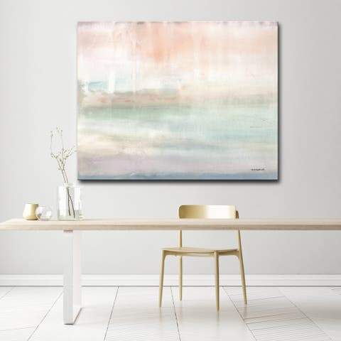 'The Sky Blushes' Abstract Gallery Wrapped Canvas Art by Norman Wyatt Home