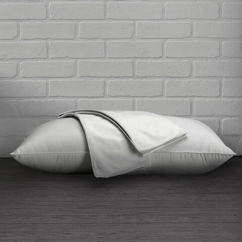 100% Cotton Percale Pillow Protector With Hidden Zipper - Set of Two
