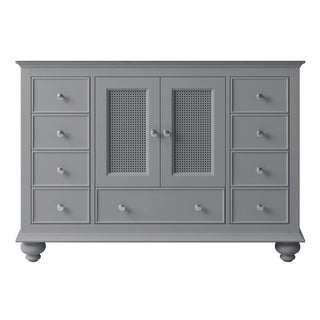 "Exclusive Heritage 48"" Single Sink Bathroom Vanity Base in Taupe Grey"