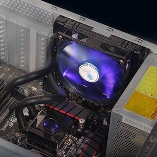 LESHPX001 Liquid Water Cooler Desktop Fan Radiator Kit 120x120x25mm Fan