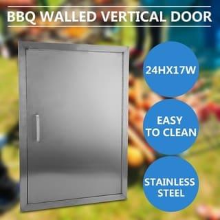 Kitchen Cabinets Stainless Steel Access Door BBQ Walled Vertical Door