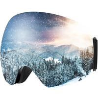 Adult Ski Snowboarding Goggles, Unisex Snow Goggles with Anti-fog and UV400 Protection Treatment