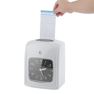K-8 English Paper Card Attendance Employee Machine Punch Time Clock Recorder - White