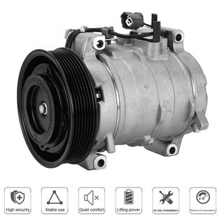 Car Air Conditioning A/C Compressor 38810RAAA01 For Honda For Accord 2003-2007 - silver & black